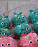 Mini Lovebug Cupcakes Tutorial Teal and Pink Frosting