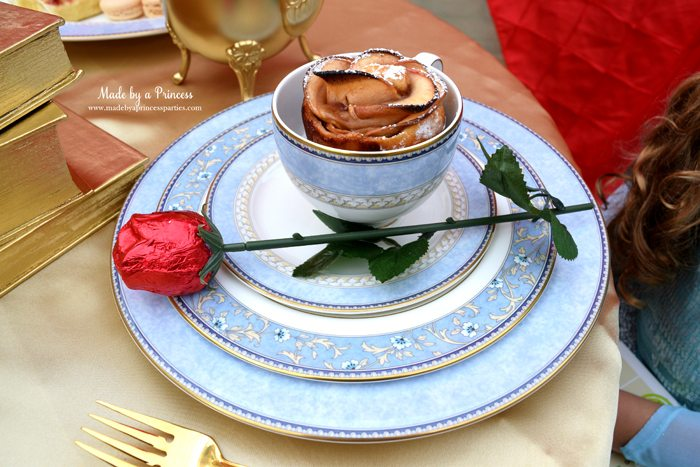 Beauty-and-the-Beast-Movie-Tea-Party-for-Two-apple-rose-and-pretty-china-set-chocolate-rose