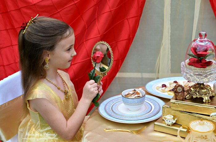 Beauty-and-the-Beast-Movie-Tea-Party-for-Two-belle-and-the-magic-mirror
