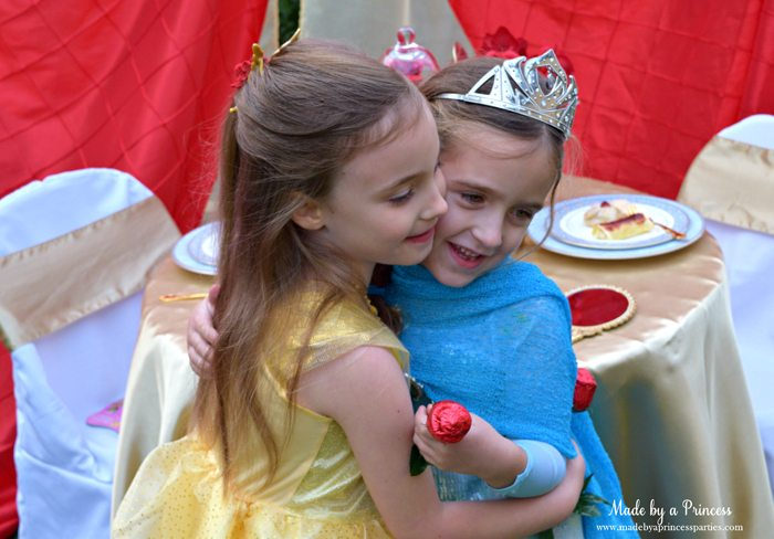 Beauty-and-the-Beast-Movie-Tea-Party-for-Two-belle-gives-elsa-a-hug-before-she-leaves