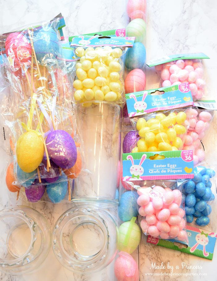 Creative Dollar Store Easter Centerpiece Tutorial snip the end of the egg picks