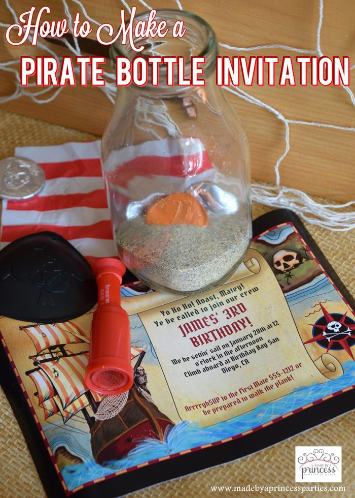 Pirate Bottle Invitations Party Idea