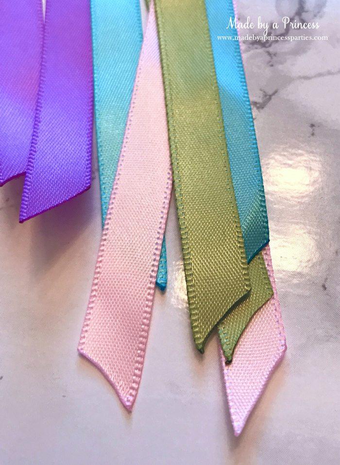 Unicorn Ribbon Wand Party Idea Tutorial heat sealed edges