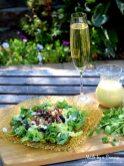 Fig Candied Pecan Gorgonzola Salad Honey Champagne Vinaigrette with champagne wm