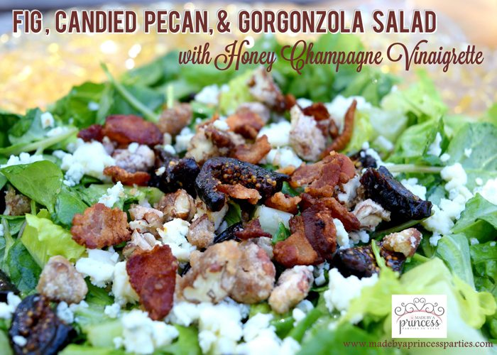 Fig Candied Pecan Gorgonzola Salad Honey Champagne Vinaigrette