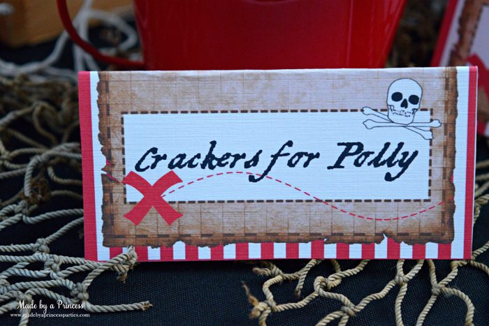 pirate party food free printables crackers for polly label