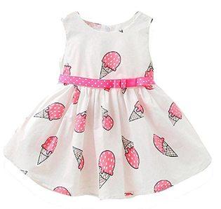 First Birthday Ice Cream Party Ideas pink ice cream dress