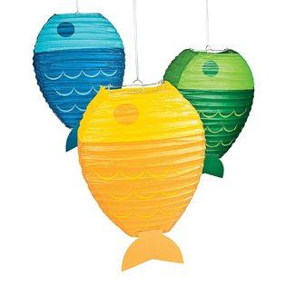 Fishing Baby Shower Ideas fish lanterns