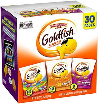 Fishing Baby Shower Ideas goldfish snacks