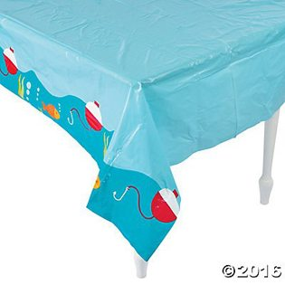 Fishing Baby Shower Ideas plastic tablecloth