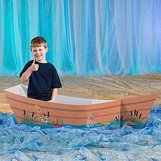 Fishing Baby Shower Ideas prop canoe