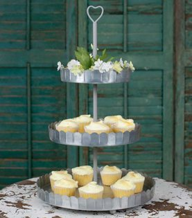 Fishing Baby Shower Ideas tin tiered cupcake stand