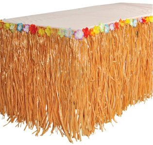 Moana Party Ideas grass table skirt