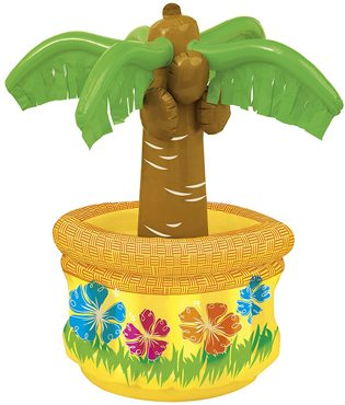 Moana Party Ideas inflatable drink cooler