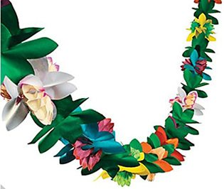 Moana Party Ideas tissue garland