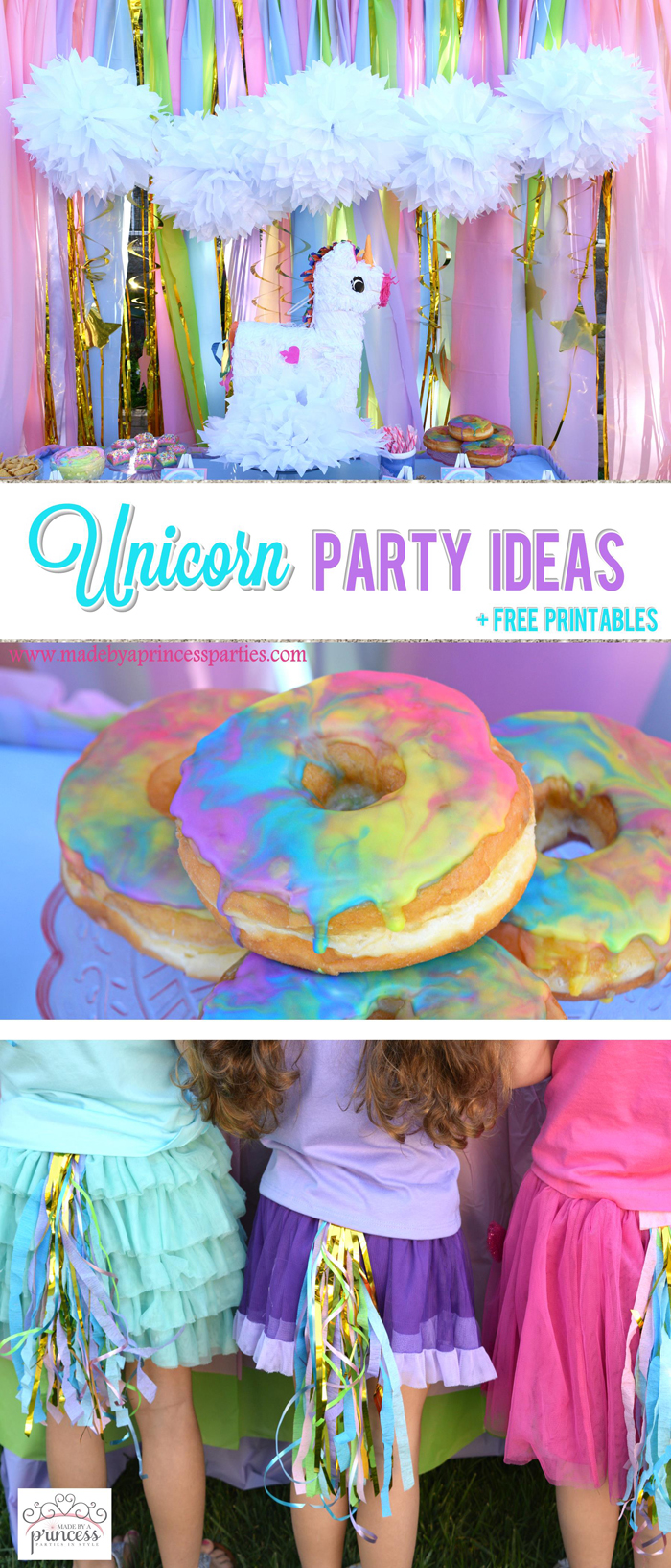 Unicorn Party Ideas Pin it For Later - Made by a Princess #unicorn #unicornparty