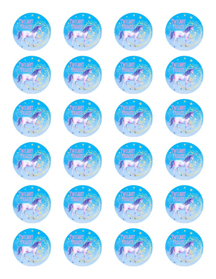 Unicorn Party Ideas Unicorn Twilight Treats Label - Made by a Princess #unicorn #unicornparty