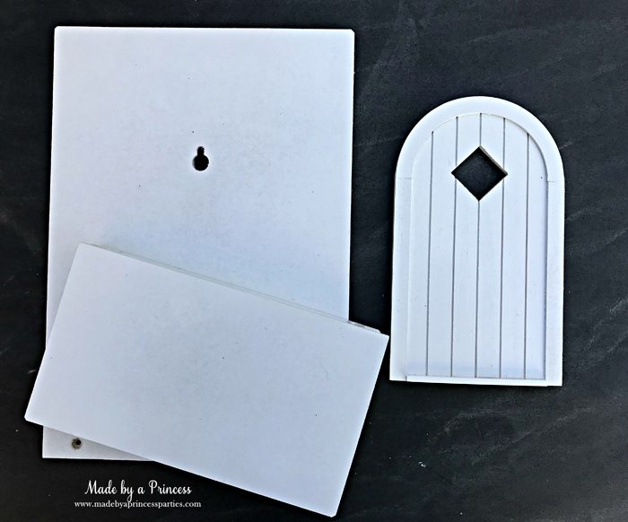 How to Create Your Own Tiny Elf Door Tutorial spray painted door MadebyaPrincess #elfdoor #fairydoor #elfdoorkit