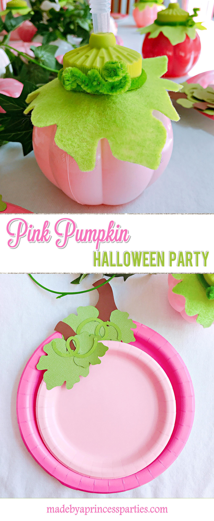 Pink Pumpkin Halloween Party Ideas inspired by Pinkalicious and the Pink Pumpkin Made by a Princess #pinkparty #pinkoween #pinkpumpkinparty