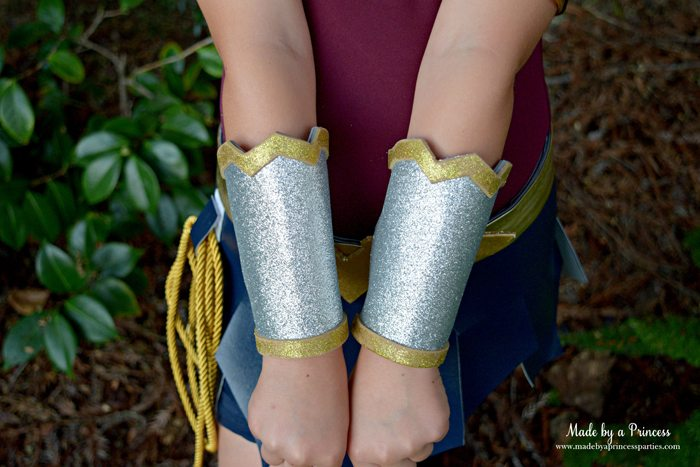Wonder Woman Movie Costume arm bracers MadebyaPrincess #halloweencostume #wonderwoman #galgadot #wonderwomancostume