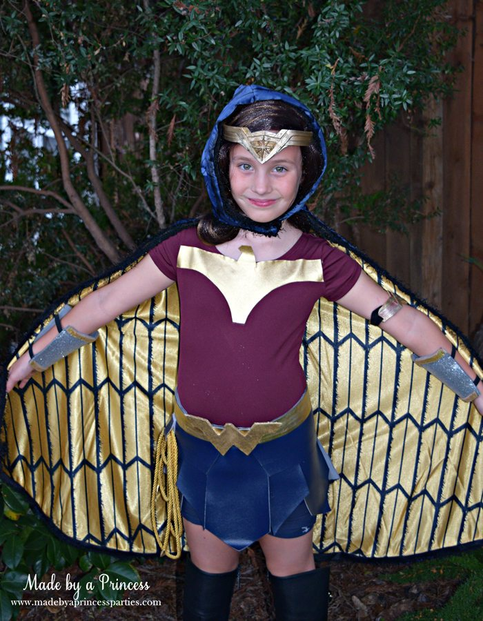 Wonder Woman Movie Costume with cape MadebyaPrincess #halloweencostume #wonderwoman #galgadot #wonderwomancostume