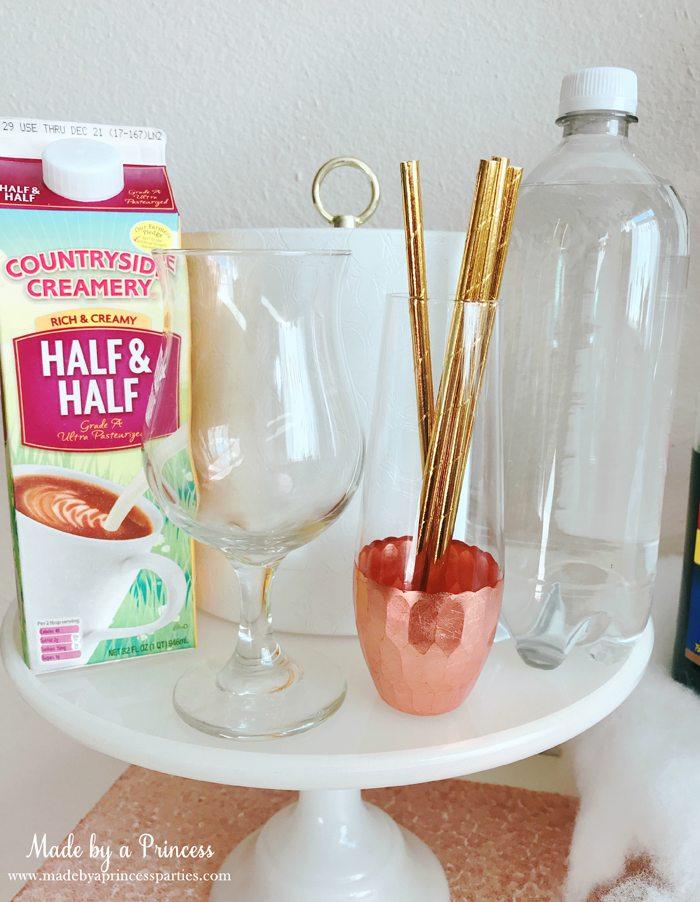 How to Make Italian Cream Soda Party Idea Pretty Glass and Fun Gold Straws
