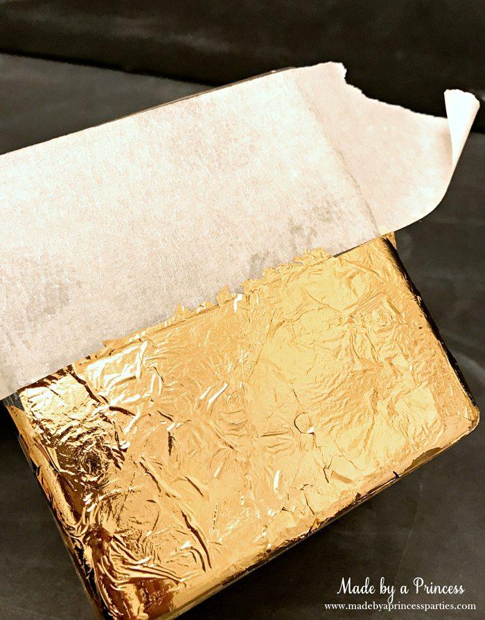 Rose Gold Foil Leaf Vase DIY Party Idea Tape Off and Mod Podge Foil Leaf