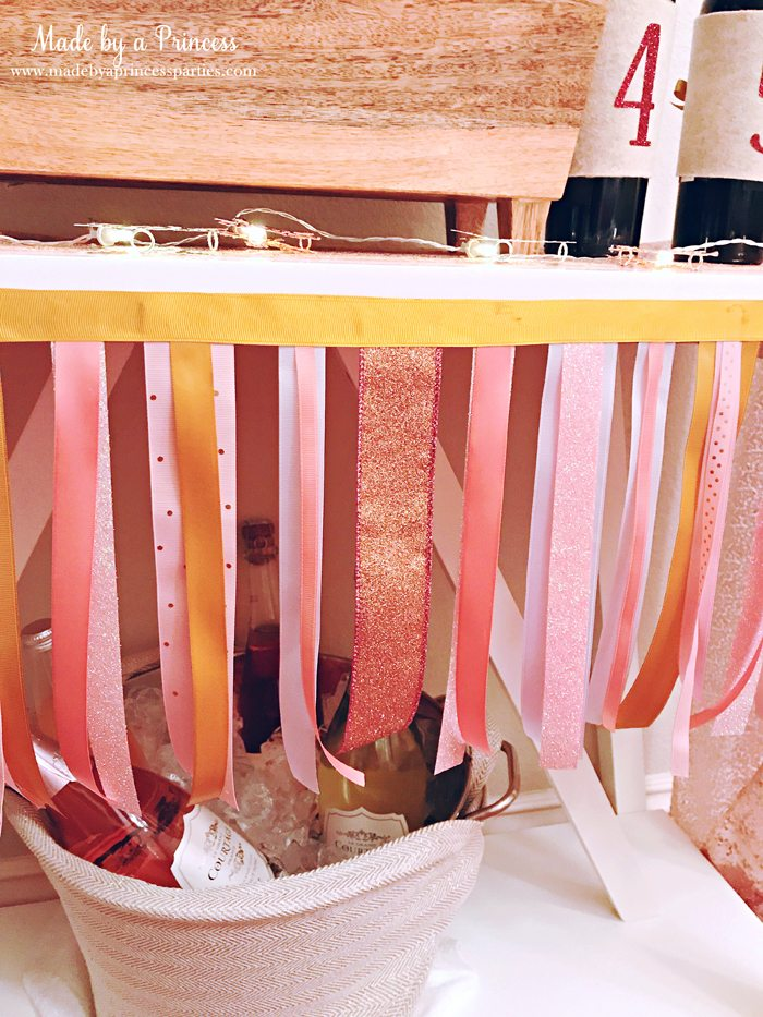 Winter WINEderland Holiday Party Wine Table Ribbon Garland