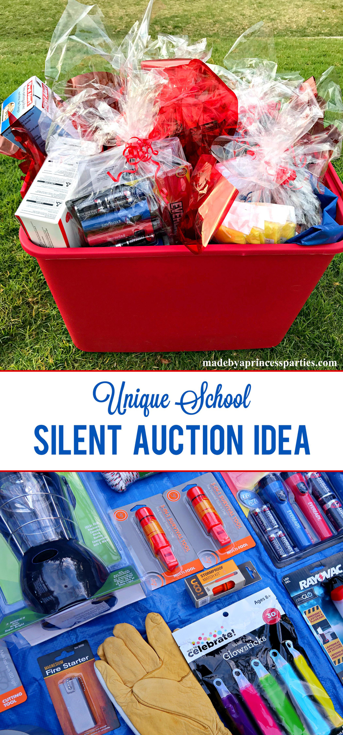 Unique School Silent Auction Idea Emergency Preparedness Kit is a great item every household needs