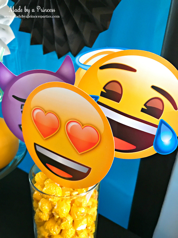 Emoji party ideas photo booth props