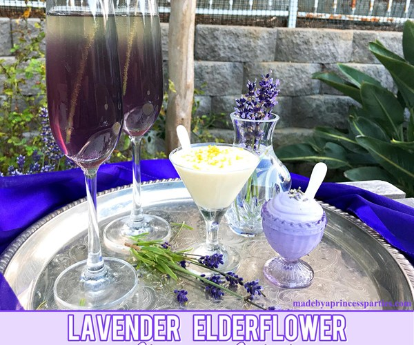 Lavender Elderflower Champagne Cocktail