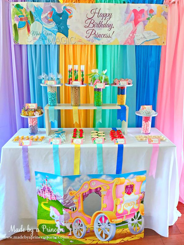 Disney Princess Party Ideas candy buffet table