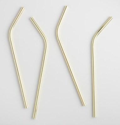Golden Holiday Entertaining Essentials gold straws