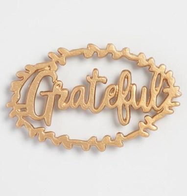 Golden Holiday Entertaining Essentials grateful trivet