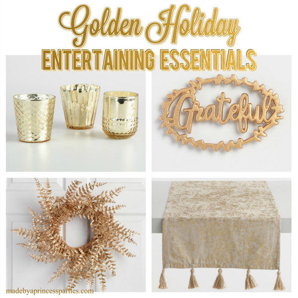 Golden Holiday Entertaining Essentials