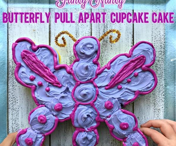 Fancy Nancy Mini Butterfly Pull Apart Cupcake Cake