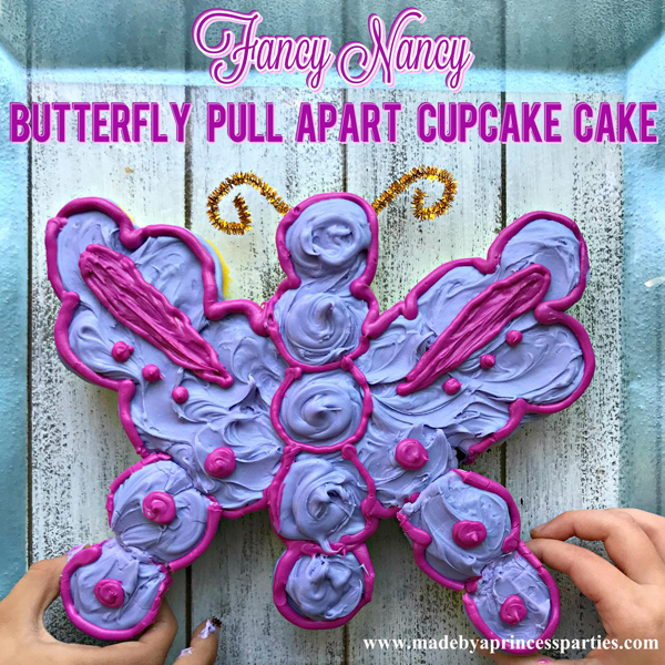Fancy Nancy Mini Butterfly Pull Apart Cupcake Cake tres magnifique what a fancy treat to share with a friend