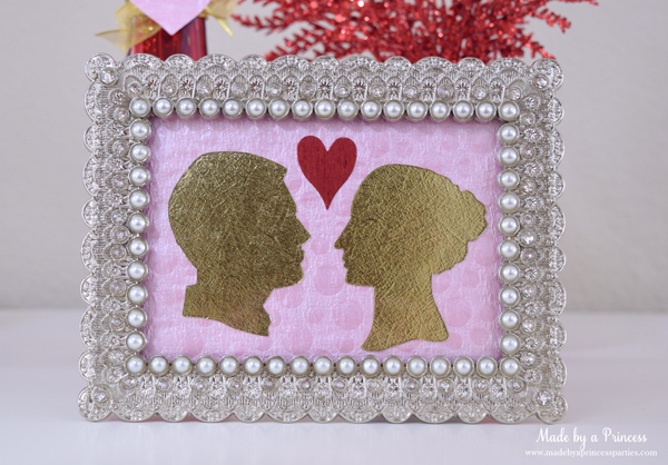 DIY Valentine's Day Countdown Banner with Sizzix Couple Silhouette
