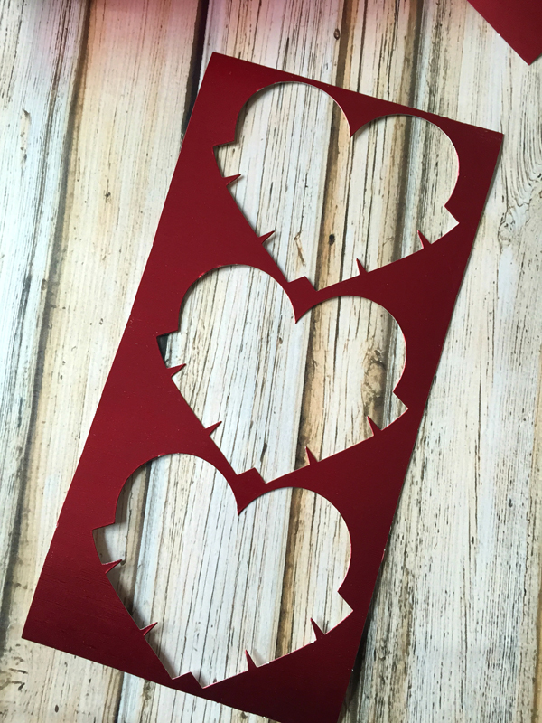 DIY Valentine's Day Countdown Banner with Sizzix heart cut 3
