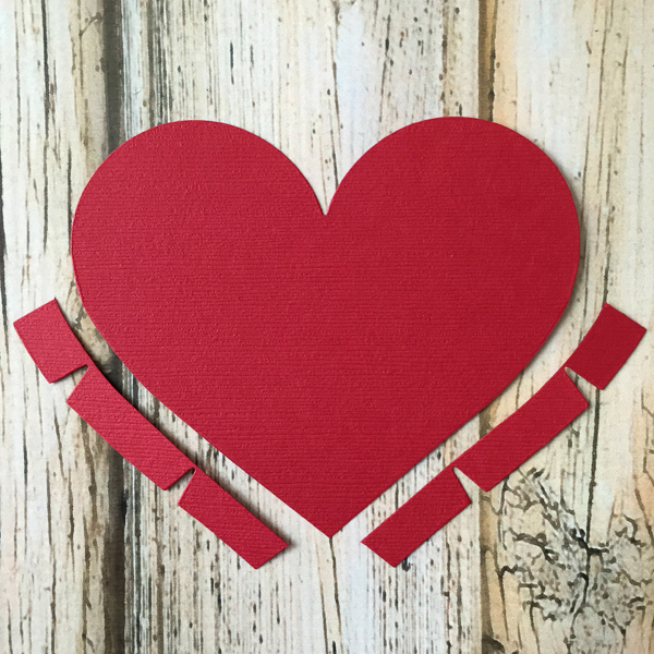 DIY Valentine's Day Countdown Banner with Sizzixheart die cut tabs