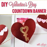 DIY Valentine's Day Countdown Banner