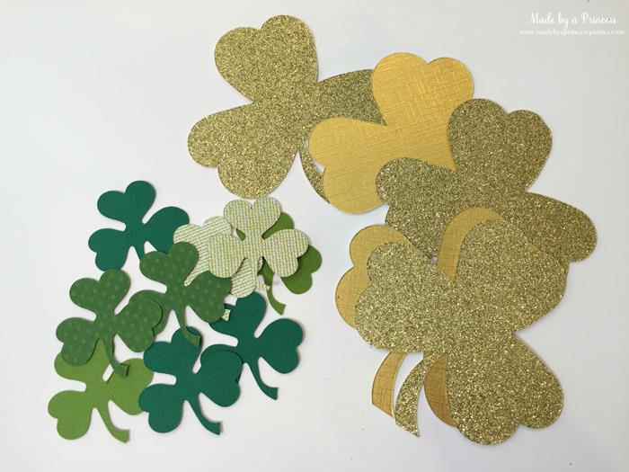 DIY Easy St Patricks Day Shamrock Wreath use Sizzix dies to cut out shamrocks