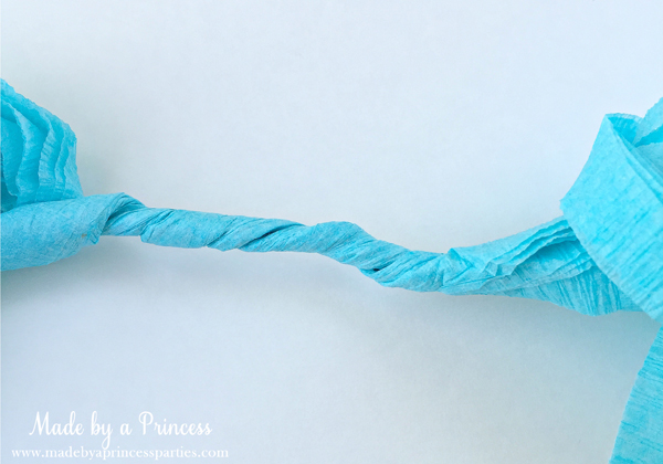 How to Make Tassel Garland with Crepe Paper twist middle section