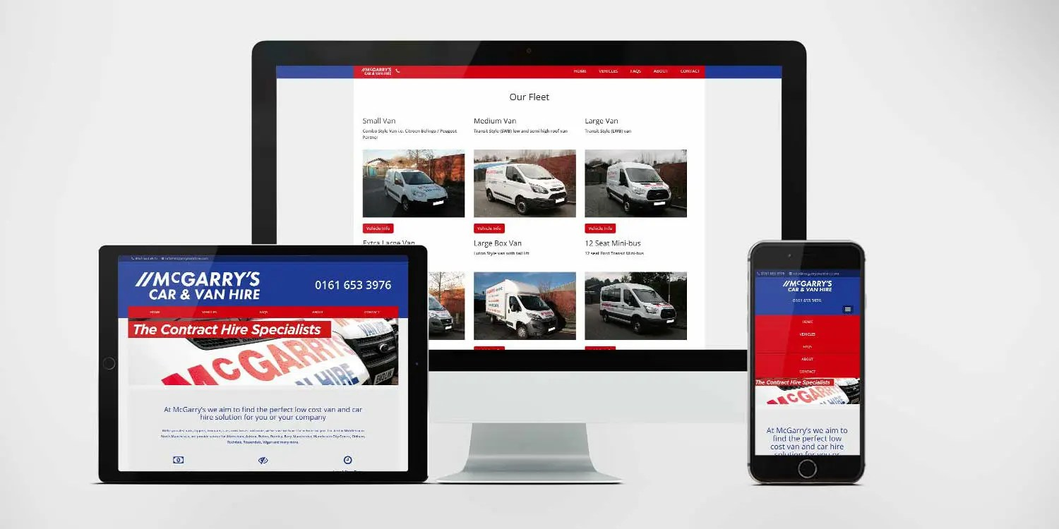 McGarry's Van Hire Website: By Factory, Digital Agency In Manchester