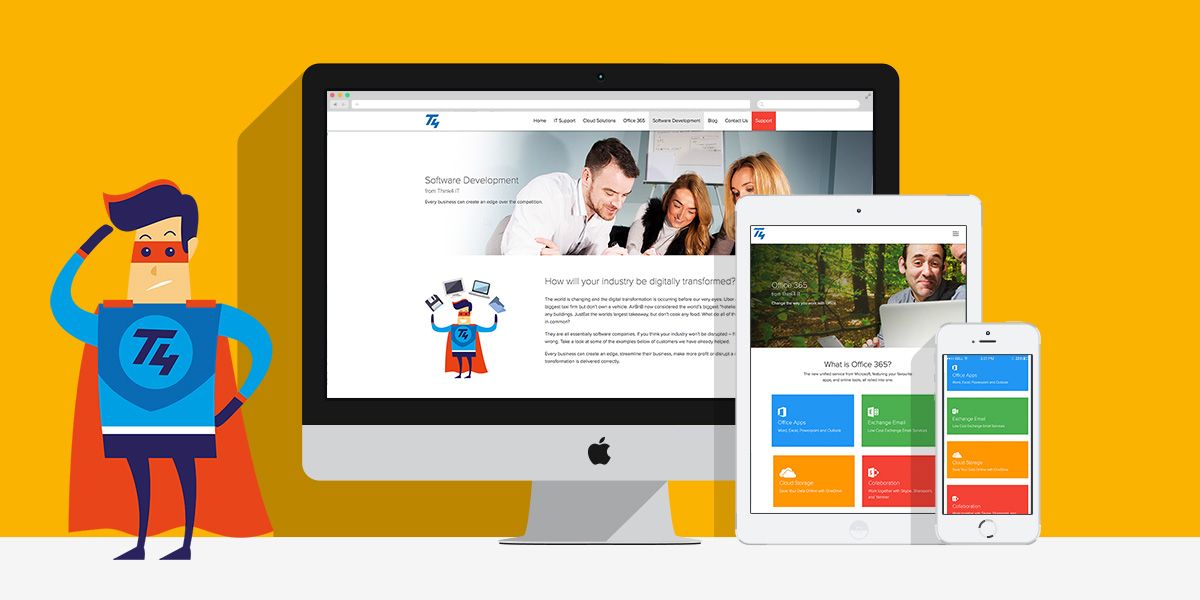 Website design and development for Think4 IT