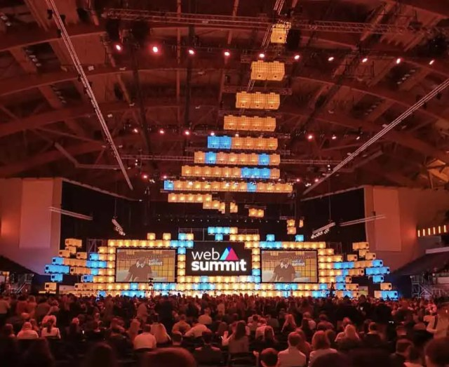 Web Summit Main stage at the Altice Arena, Lisbon