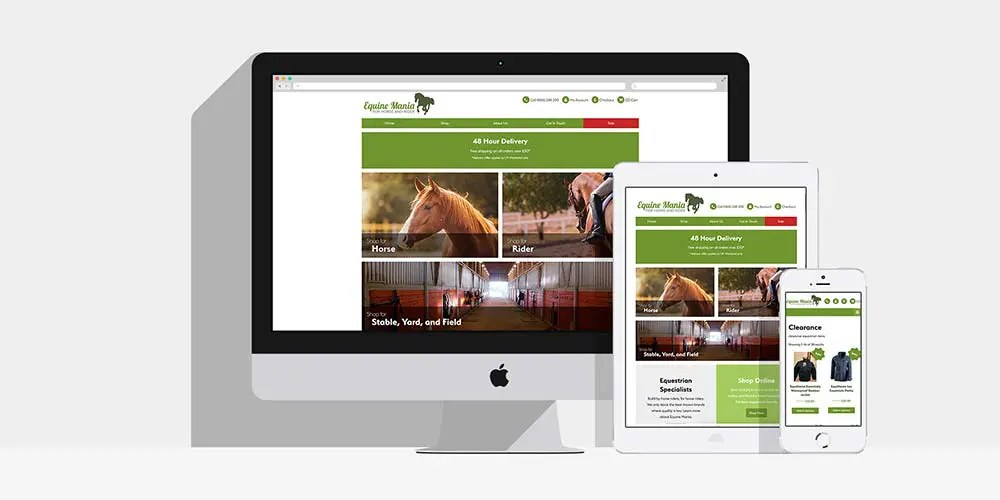 Equine Mania Bespoke WooCommerce Website: By Factory, PPC Agency In Manchester