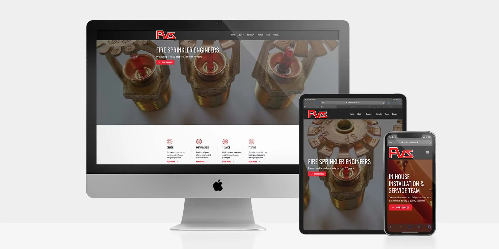 Custom WordPress Site For Fire Saftey Firm FVS Limited: By Factory, PPC Agency In Manchester