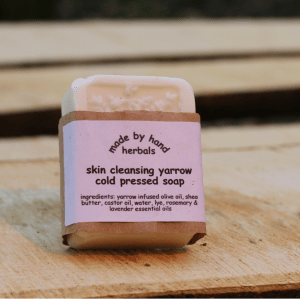 cold pressed | yarrow soap | natural | skin cleansing