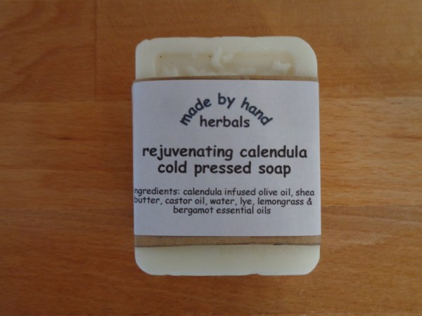 Rejuvenating calendula soap | natural | herbal | hedgerow | handcrafted